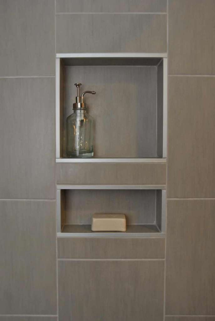 Beautiful Recessed Shelves In The Bath  Beautiful Bathrooms  Pinterest